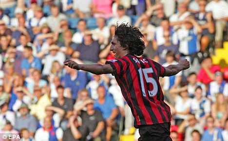 Highly rated: Manchester City defender Stefan Savic scored last weekend