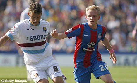 Speed-y progress: Jonathan Williams (right) only made his Crystal Palace debut in August