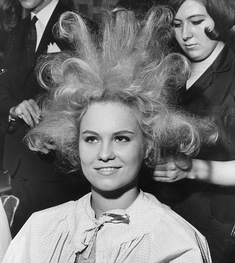 Hair-raising: Hairdressers recommend you take a picture of the style you want to the salon to avoid disappointment (posed by model)