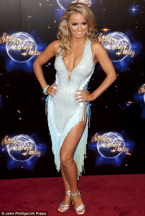 Nice to see you? Dancer Ola Jordan in a revealing sparkly blue dress