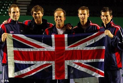 Pride of Britain: Greg Rusedski was a regular in the Davis Cup with Jamie Murray, John Lloyd, Andy Murray and Tim Henman