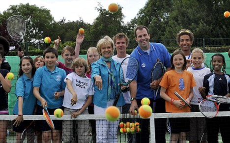 Getting involved: Rusedski has always maintained an interest a tennis since retiring