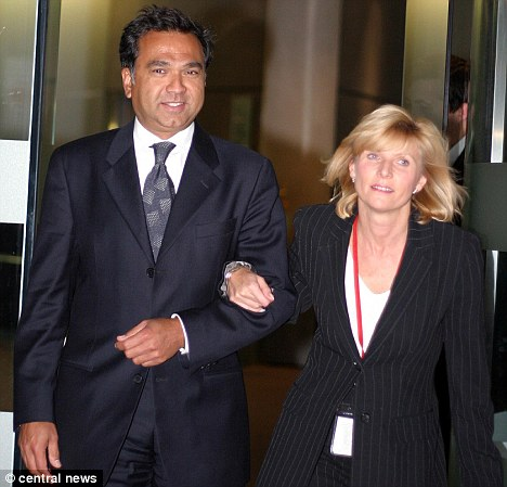 Pledge: Chai Patel, pictured with his wife Katherine, is setting up a new company to take over 250 homes threaten by the collapse of Southern Cross