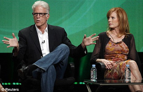 Stalwart: Marg, who appeared on today's panel alongside new cast member Ted Danson has been in almost every episode of CSI