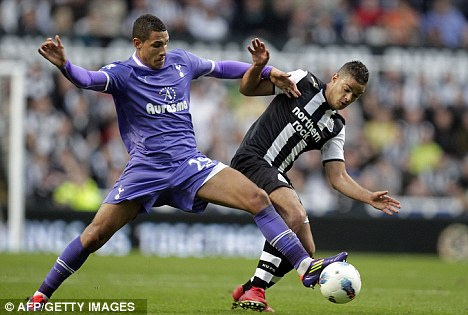 Struggling to win his place: Ben Arfa in action against Tottenham last month