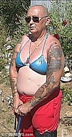 Bikini no-go: Sandy McMillin says she was kicked out of Wall-Mart for wearing this bikini top and will now sue for discrimination
