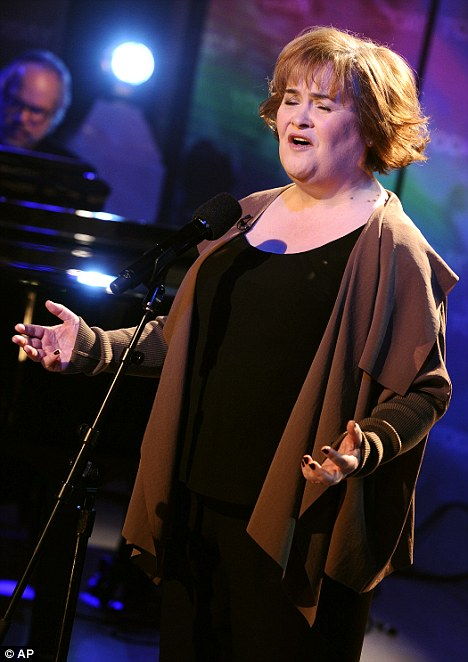 Scottish songbird: Susan performs during her appearance on NBC show Today in New York