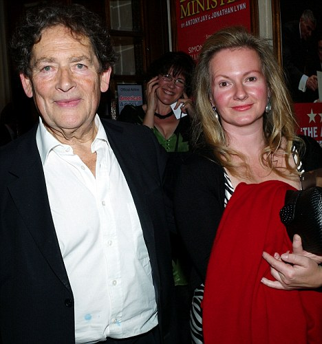 Stepping out: Lord Lawson and Tina Jennings spotted together last year at the opening night of Yes Prime Minister