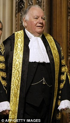 John Bercow chose not to wear the traditional uniform worn by past Speakers, such as Michael Martin, pictured here wearing the gown and wig