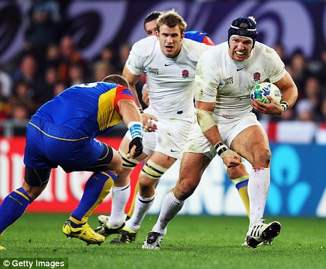 On the move: Haskell in action for England in their World Cup clash with Romania in New Zealand