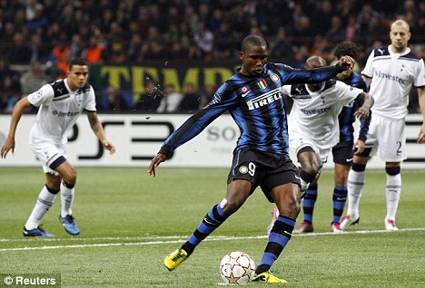 Striking a deal: Eto'o is hoping an agreement can be reached for his move to Manchester