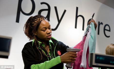 Priced out: Young shop assistants may be less attractive to employers as the minimum wage rises