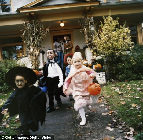 Young trouble: A 10-year-old trick-or-treater pulled a handgun on a woman who joked that she¿d steal his Halloween candy (stock photo)
