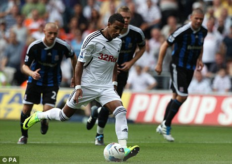 Great Scott: Swansea's two goals came from Sinclair and Danny Graham