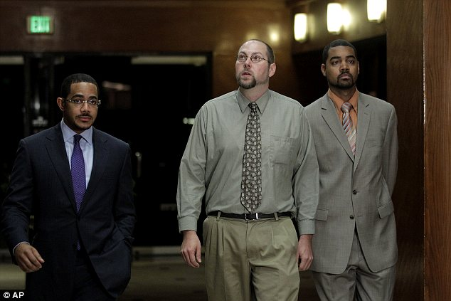 Suspect: Christopher Chaney, centre,  is accused of mining through publicly available data to hack into the email accounts of more than 50 celebrities like Scarlett Johansson, Christina Aguilera and Mila Kunis