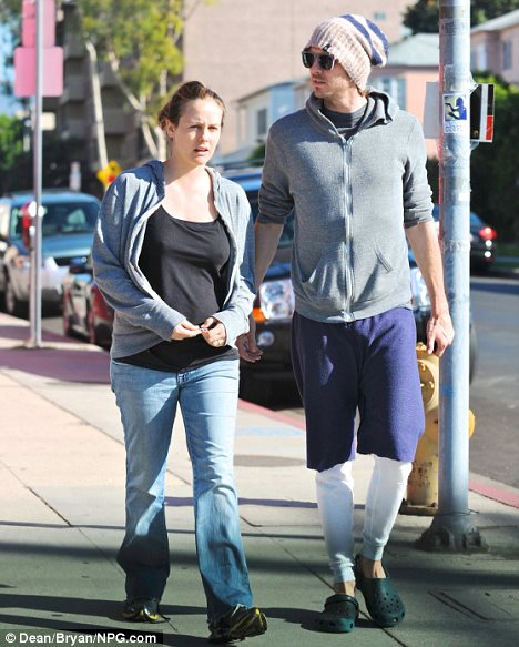 Scruffy: Alicia Silverstone and her husband Christopher Jarecki were looking extremely dressed down as they ran errands in L.A. on Saturday