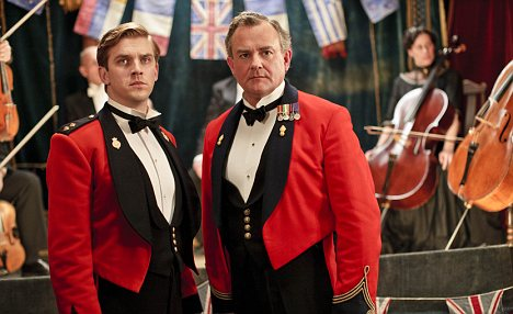 Dan Stevens as the 'admirable' Matthew Crawley, the only exception to Downton's curious lack of martial spirit