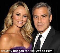 Double but not quits: George Clooney's new woman, Stacy Keibler, has upper her appearance fee
