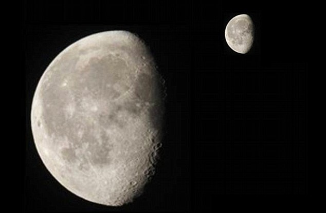 Before the collision: Earth may once have had two moons - the one that shines at night today and a smaller companion