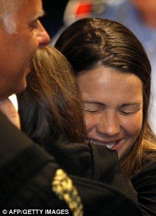 Italian lawyer Maria Del GrossoRelieved: Amanda Knox's sister Deanna Knox moments after the verdict at Perugia's Court of Appeal