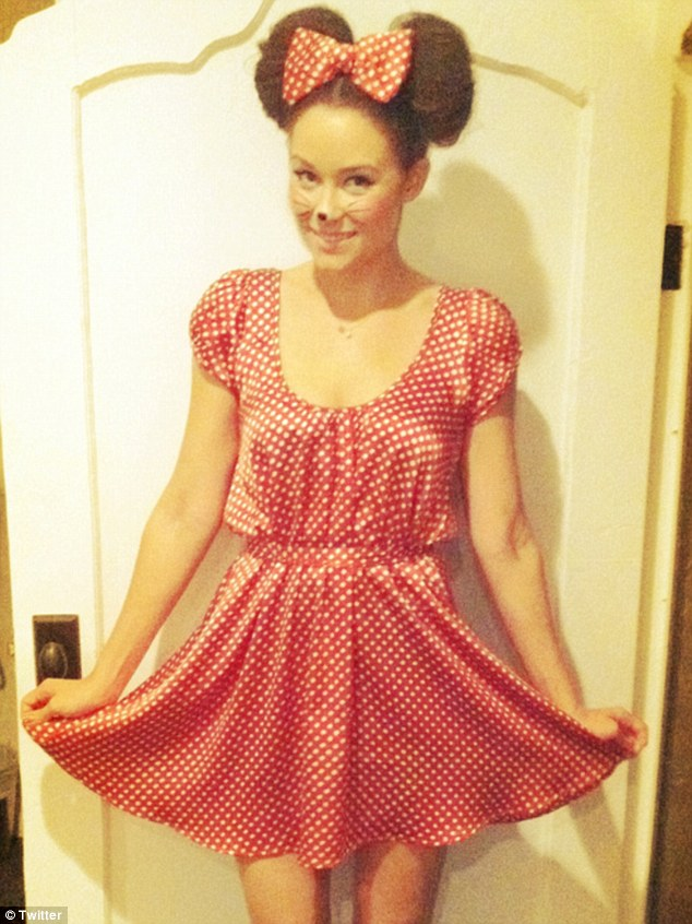 Prety in polka dots: Lauren Conrad dressed up as Minnie Mouse