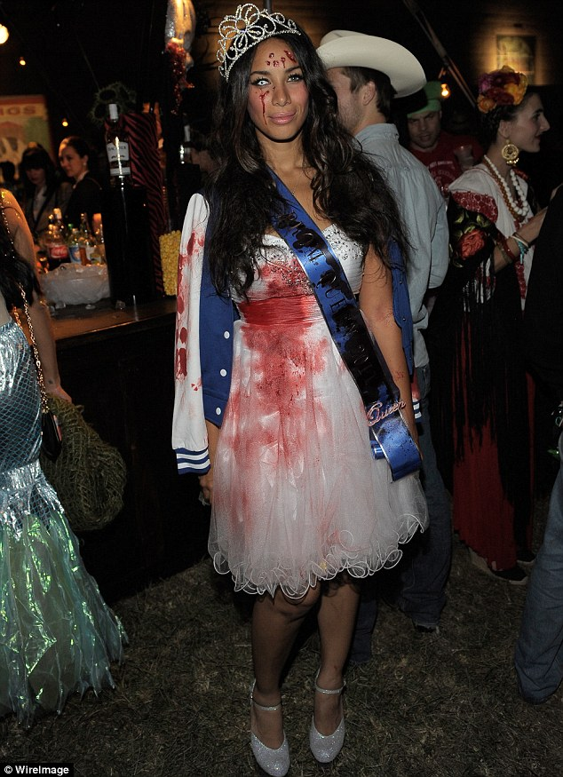 Beauty queen: Leona Lewis went as a member of the undead