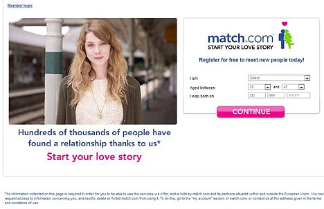 21st Century dating: Kerry is said to have signed up to dating site match.com