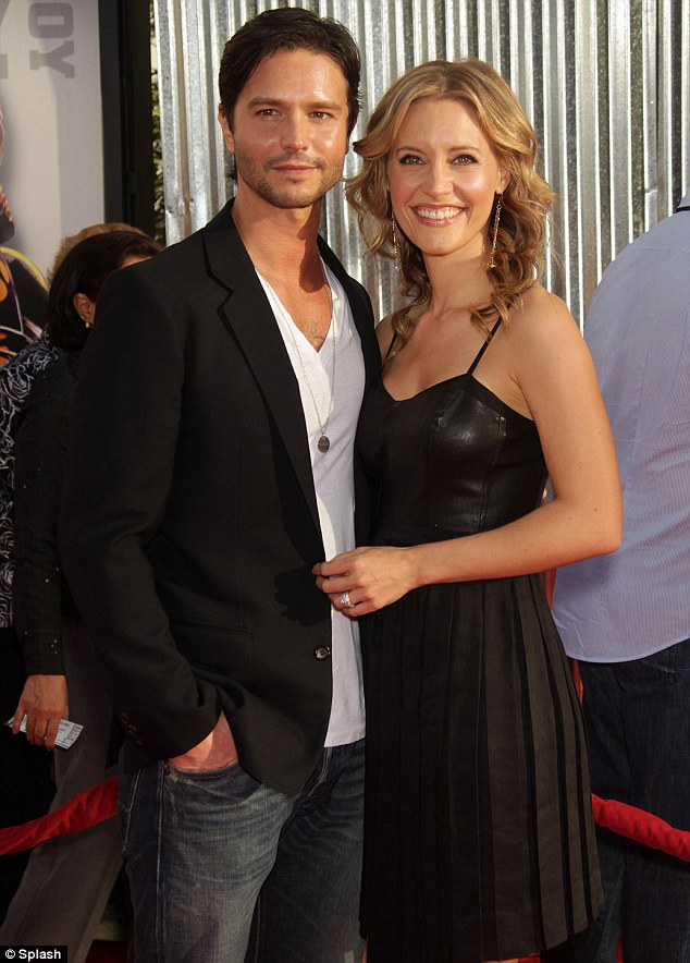 Happy couple: Private Practice actress KaDee Strickland and husband Jason Behr, a former Dawson's Creek star