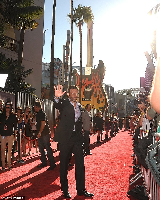 Promotional blitz: Jackman has been travelling the globe promoting his new movie