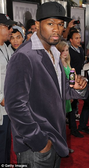Lending their support: Rapper 50 Cent went for a tuxedo jack and jeans combo while 90210 star Matt Lanter kept it casual