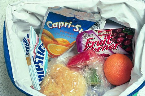 Boosting health: The survey showed that 58 per cent of those with lunchboxes had at least one piece of fresh fruit or veg