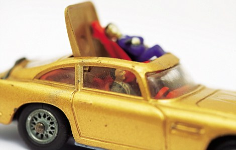 Fitted with an ejector seat the James Bond Goldfinger Aston Martin DB5 came out in 1965. Value: £250