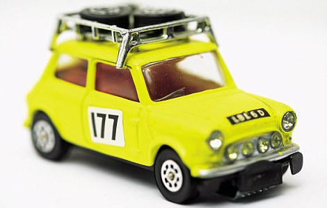 The 1972 Monte Carlo Mini Rally was the second model Corgi produced of the iconic Sixties car. Value: £200