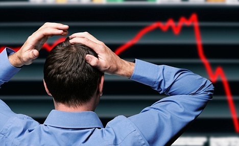 'Bumpy ride': The FTSE sank to its lowest point this year with a 132 point drop