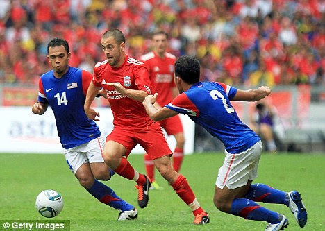 Chance to shine: Joe Cole in pre-season action against Malaysia last month