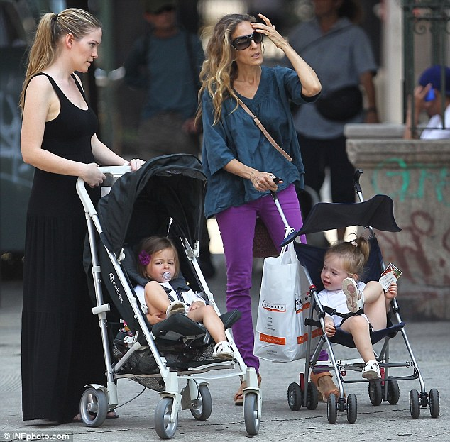 What do you think? Cute Marion looked over at her twin sister for a chat while their mother conversed with the nanny