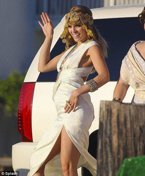 Shimmy: AnnaLynne McCord danced the day away on the set of 90210 today