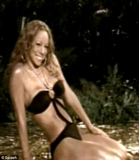 Body marvellous: Mariah Carey showing off her old physique in the video for I'll Be Loving U Long Time