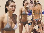 20 NOVEMBER 2015 SYDNEY AUSTRALIA..EXCLUSIVE PICTURES..Jessica Hart pictured relaxing at Tamarama Beach with her Luma Cosmetics brand manager George Moskos and a friend...*No internet without clearance*...MUST CALL PRIOR TO USE +61 2 9211-1088. Matrix Media Group.Note: All editorial images subject to the following: For editorial use only. Additional clearance required for commercial, wireless, internet or promotional use.Images may not be altered or modified. Matrix Media Group makes no representations or warranties regarding names, trademarks or logos appearing in the images.