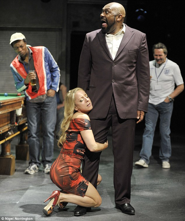 Joker: Lenny Henry with Claudie Blakley in The Comedy of Errors