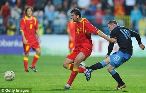 In the dock: Wayne Rooney was sent off for kicking Miodrag Dzudovic