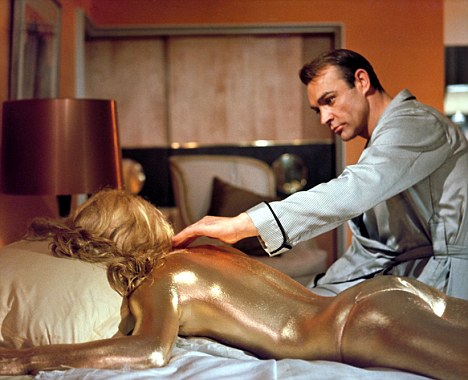 Christmas classic: Sean Connery stars as agent James Bond, in Goldfinger, one of Mr Cameron's favourites