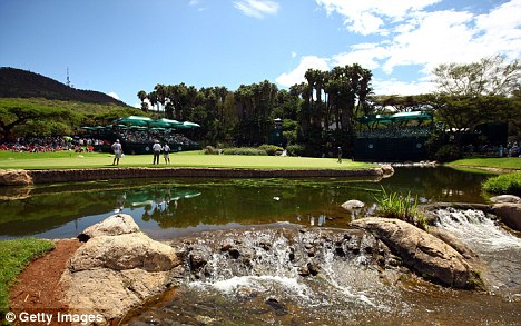 Picture perfect: This was Westwood's ninth trip to the Gary Player Country Club