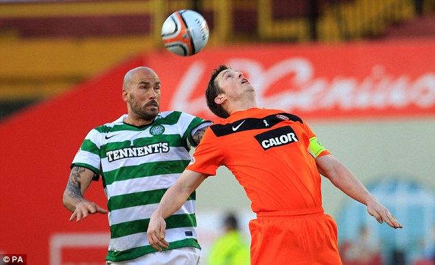 Heads up: Celtic had to grind out the win at Tannadice