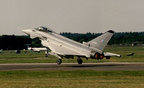 Grounded: The RAF's Typhoon jets are struggling to get airborne because of a lack of spare parts