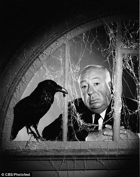 The film maker photographed to showcase the 1955 TV series, Alfred Hitchcock Presents