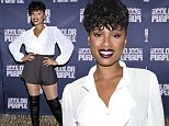 """NEW YORK, NY - NOVEMBER 20:  Jennifer Hudson attends """"The Color Purple"""" Broadway Cast Photo Call  at Intercontinental Hotel on November 20, 2015 in New York City.  (Photo by Dimitrios Kambouris/Getty Images)"""
