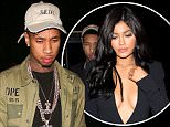 West Hollywood, CA - Michael Ray Nguyen-Stevenson, the rapper better known as Tyga, arrives for his 26th birthday celebration with friends at The Nice Guy. Tyga's girlfriend, Kylie Jenner, was noticeably not by his side as he walked inside the trendy celebrity venue.\nAKM-GSI         November 19, 2015\nTo License These Photos, Please Contact :\nSteve Ginsburg\n(310) 505-8447\n(323) 423-9397\nsteve@akmgsi.com\nsales@akmgsi.com\nor\nMaria Buda\n(917) 242-1505\nmbuda@akmgsi.com\nginsburgspalyinc@gmail.com