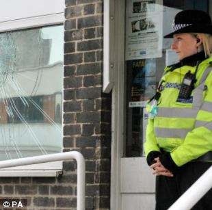 Canning Circus police station in Nottingham was firebombed