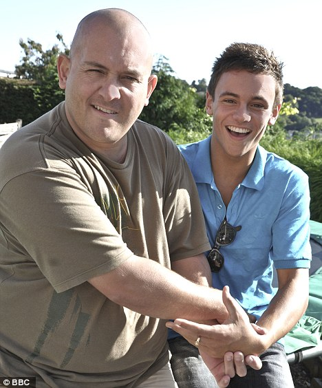 Inspiration: Tom is driven to success in his sport thanks to the love and support his father Rob gave him